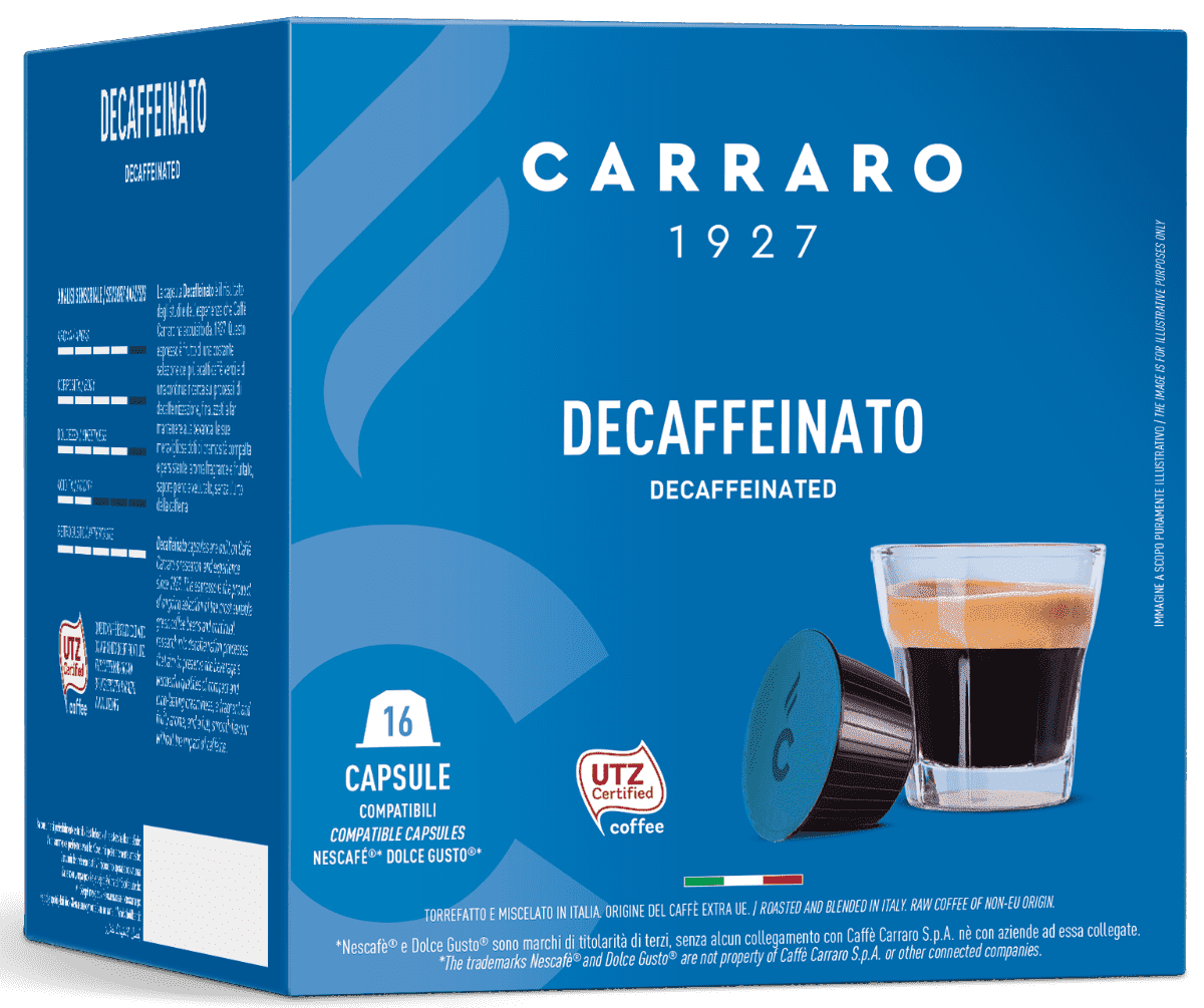 Кофе Carraro Decaffeinato 16 капсул.